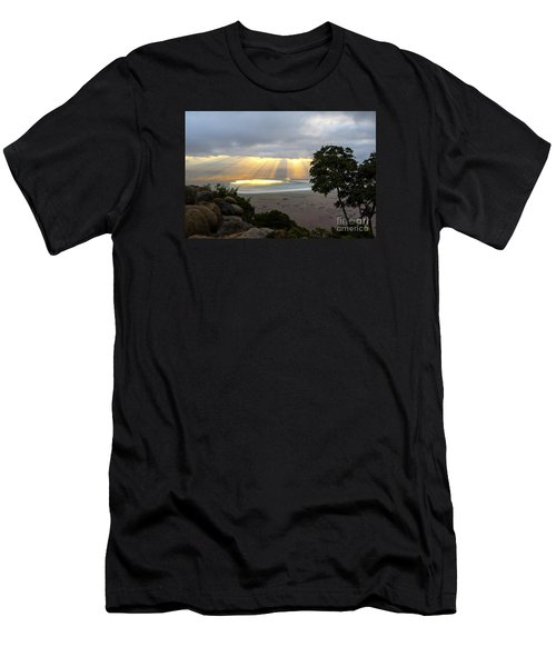 Men's T-Shirt (Slim Fit) featuring the photograph Sun Rays by Pravine Chester