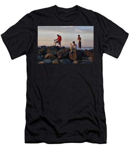 Sun Set Shooters Men's T-Shirt (Athletic Fit)