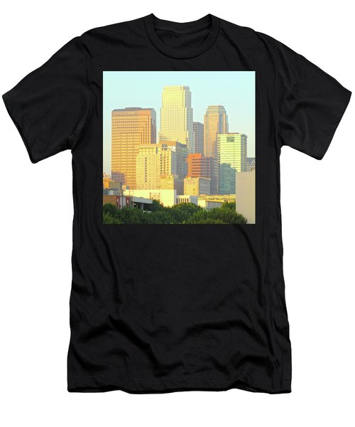 Sun Sets On Downtown Los Angeles Buildings #2 Men's T-Shirt (Athletic Fit)