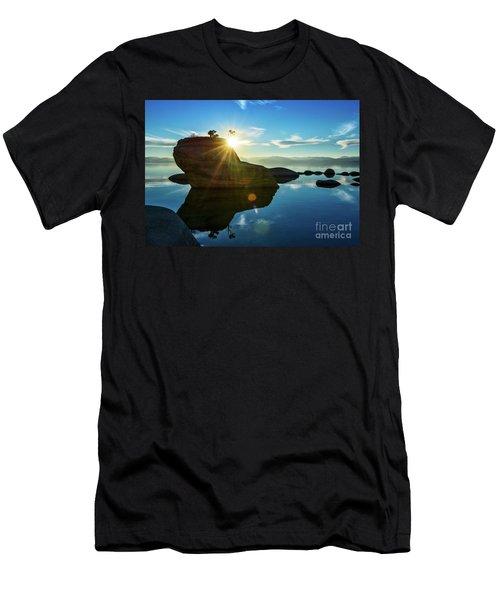 Sun Star Mirror Men's T-Shirt (Athletic Fit)