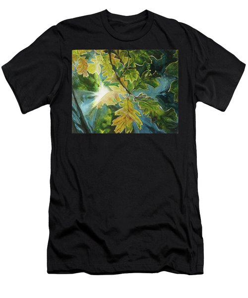 Sun Through Oak Leaves Men's T-Shirt (Athletic Fit)