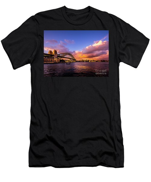 Men's T-Shirt (Slim Fit) featuring the photograph Sun Up by Perry Webster