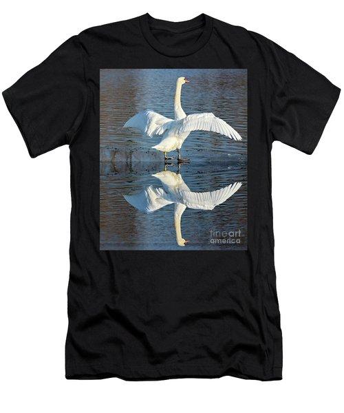 Sunbathing Swans Men's T-Shirt (Athletic Fit)