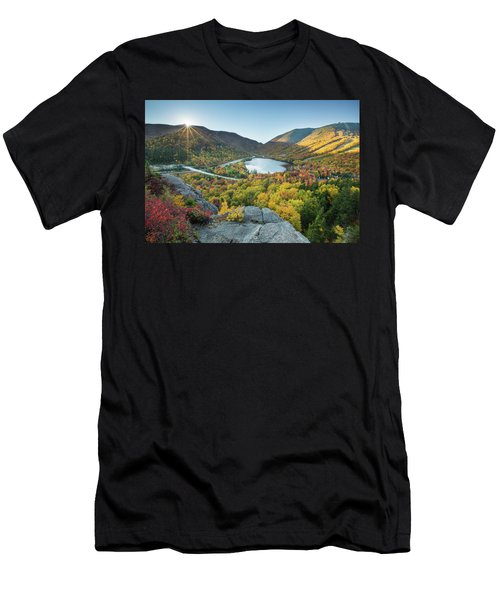 Sunburst Over Franconia Notch Men's T-Shirt (Athletic Fit)