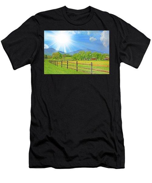 Sunburst Over Peaks Of Otter, Virginia Men's T-Shirt (Athletic Fit)