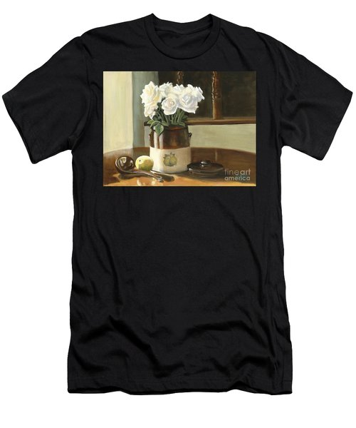 Sunday Morning And Roses - Study Men's T-Shirt (Athletic Fit)