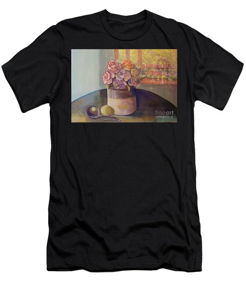 Sunday Morning Roses Through The Looking Glass Men's T-Shirt (Athletic Fit)