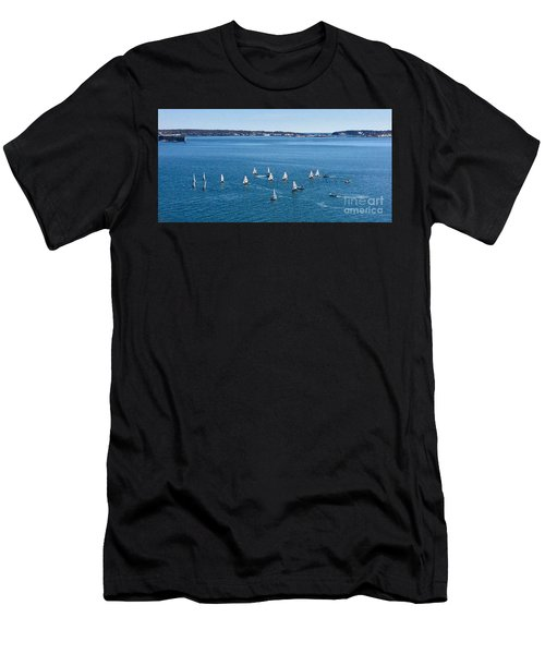 Sunday Sailing School On Casco Bay Men's T-Shirt (Athletic Fit)