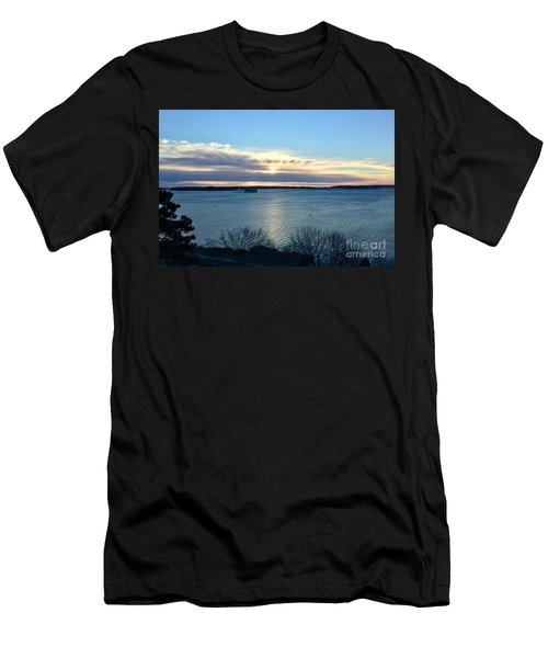 Sunday Sunrise On Casco Bay Men's T-Shirt (Athletic Fit)
