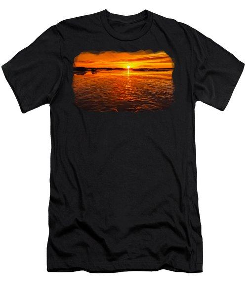 Sundown At Low Tide 2 Men's T-Shirt (Athletic Fit)