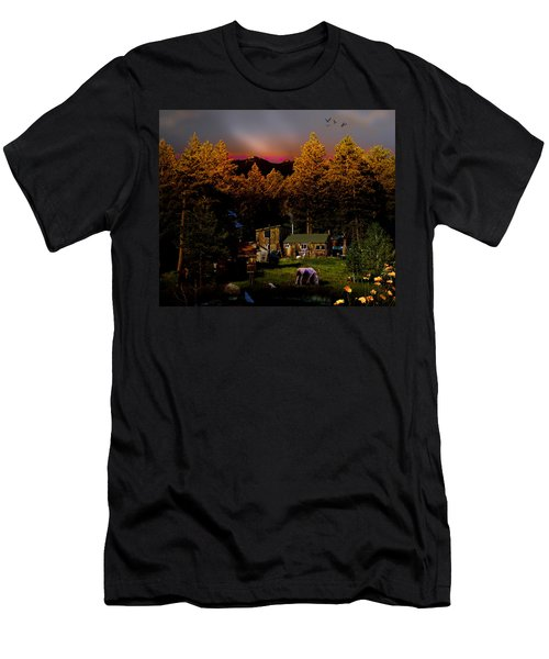 Sundown In The Rockies Men's T-Shirt (Athletic Fit)