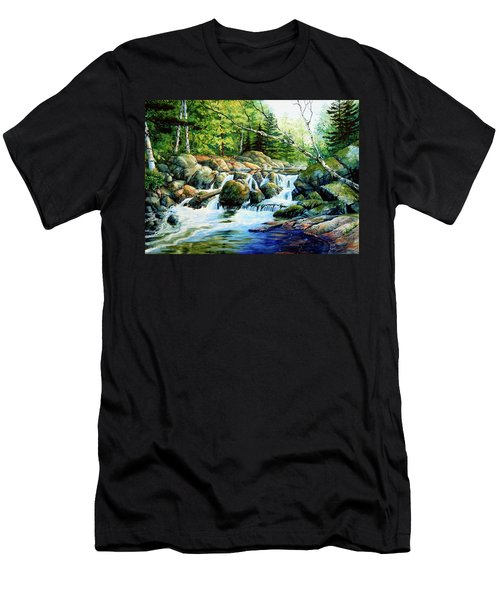 Men's T-Shirt (Athletic Fit) featuring the painting Sunfish Creek by Hanne Lore Koehler