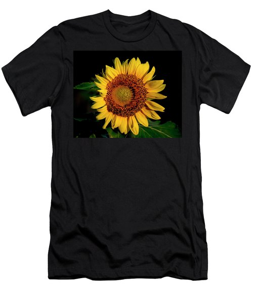 Men's T-Shirt (Athletic Fit) featuring the photograph Sunflower 2017 12 by Buddy Scott