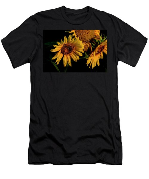 Men's T-Shirt (Athletic Fit) featuring the photograph Sunflower 2017 7 by Buddy Scott