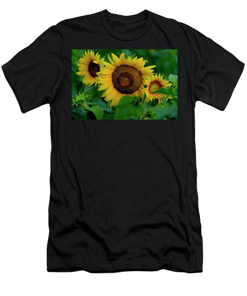 Men's T-Shirt (Athletic Fit) featuring the photograph Sunflower 2017 9 by Buddy Scott