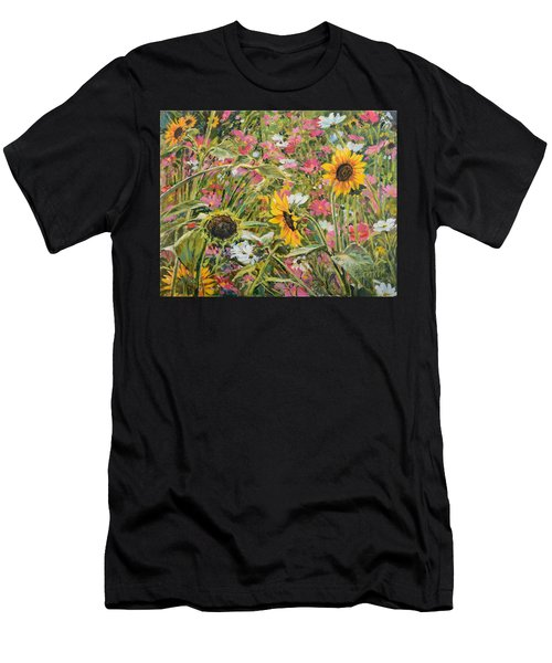 Sunflower And Cosmos Men's T-Shirt (Athletic Fit)