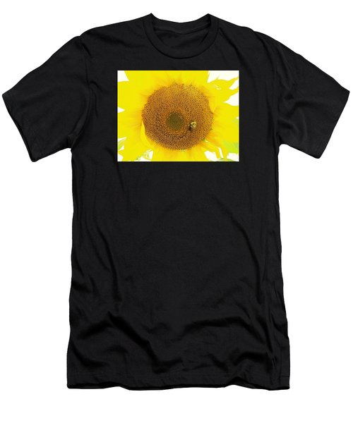 Sunflower And The Happy Bee Men's T-Shirt (Athletic Fit)