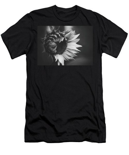Sunflower Black And White Men's T-Shirt (Athletic Fit)