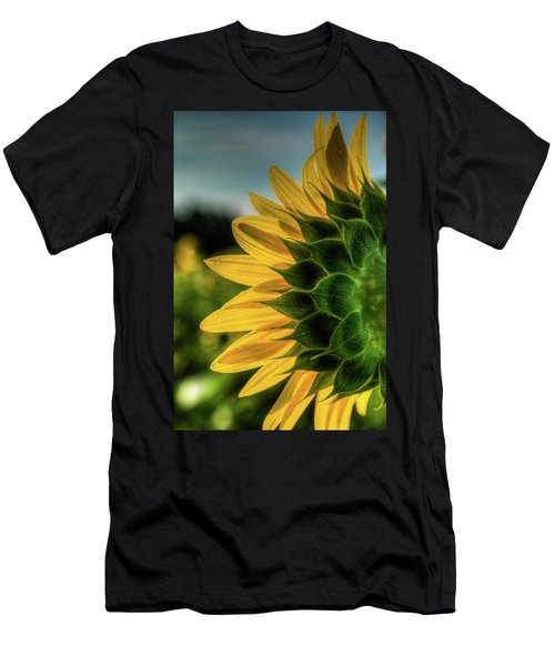 Sunflower Blooming Detailed Men's T-Shirt (Athletic Fit)