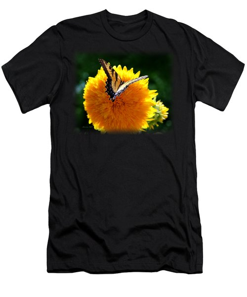 Swallowtail On Sunflower Men's T-Shirt (Athletic Fit)