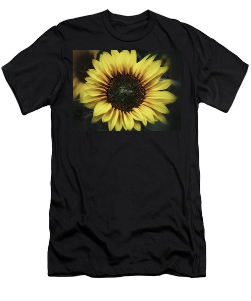 Men's T-Shirt (Slim Fit) featuring the photograph Sunflower Dream by Karen Stahlros