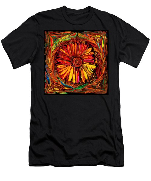 Sunflower Emblem Men's T-Shirt (Athletic Fit)