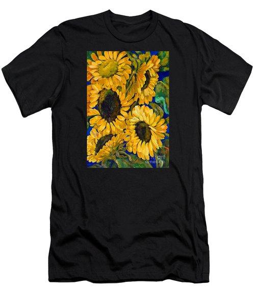 Sunflower Faces Men's T-Shirt (Athletic Fit)