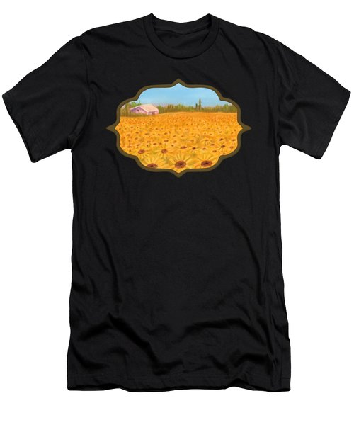 Sunflower Field Men's T-Shirt (Athletic Fit)