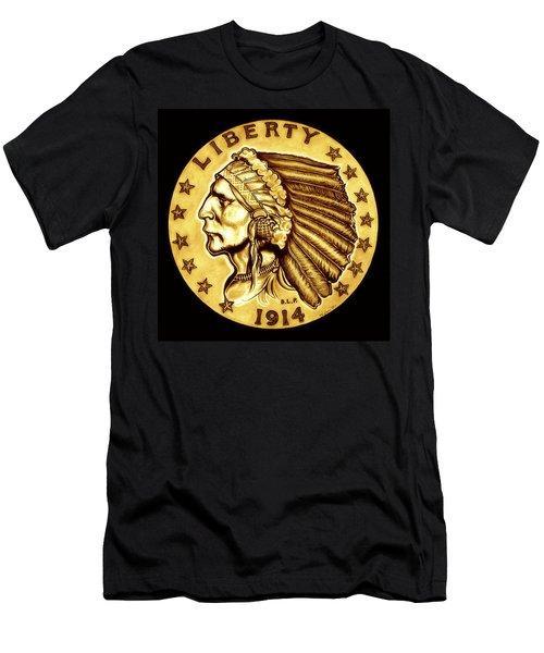 Sunflower Gold Quarter Eagle Men's T-Shirt (Slim Fit) by Fred Larucci