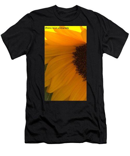 Sunflower Macro Men's T-Shirt (Athletic Fit)