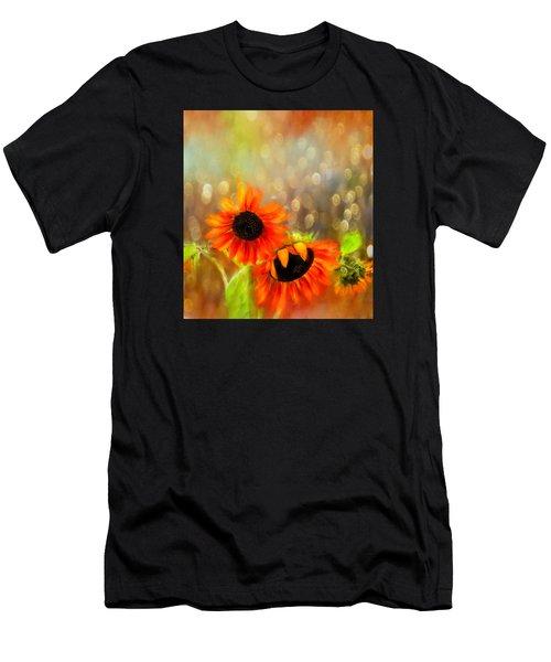 Sunflower Rain Men's T-Shirt (Athletic Fit)