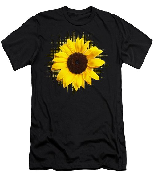 Sunflower Sunburst Men's T-Shirt (Athletic Fit)