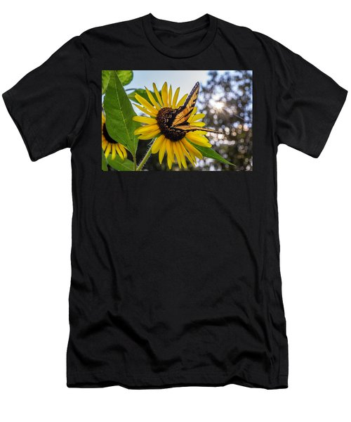 Sunflower Swallowtail Men's T-Shirt (Athletic Fit)