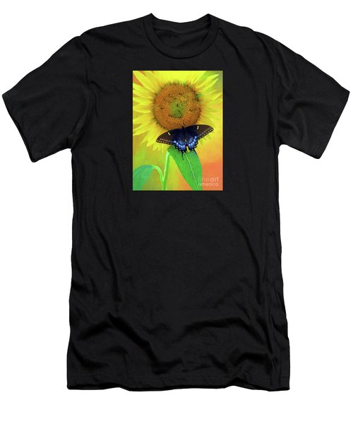 Sunflower With Company Men's T-Shirt (Athletic Fit)