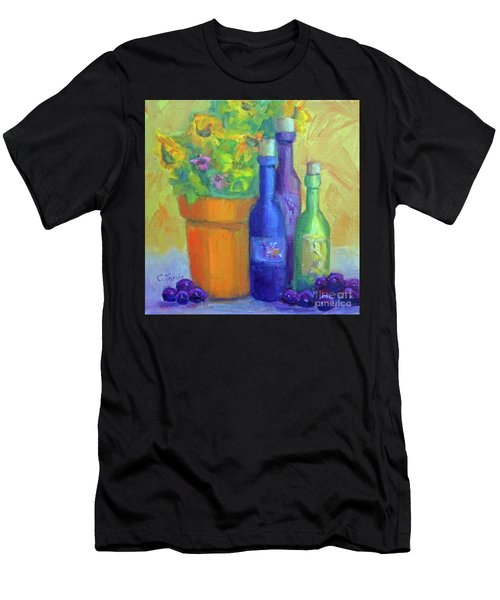 Sunflowers And Wine Men's T-Shirt (Athletic Fit)