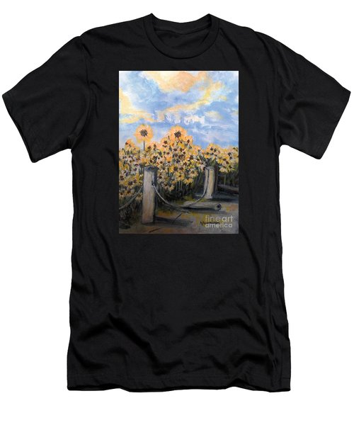 Sunflowers At Rest Stop Near Great Sand Dunes Men's T-Shirt (Athletic Fit)