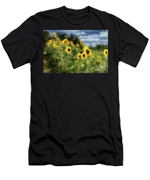 Sunflowers Bowing And Waving Men's T-Shirt (Athletic Fit)