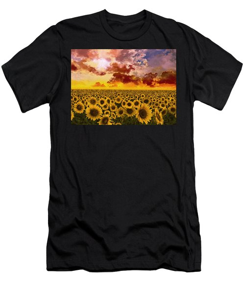 Sunflowers Field 1 Men's T-Shirt (Athletic Fit)