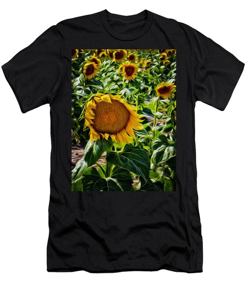 Sunflowers Glaze Men's T-Shirt (Athletic Fit)