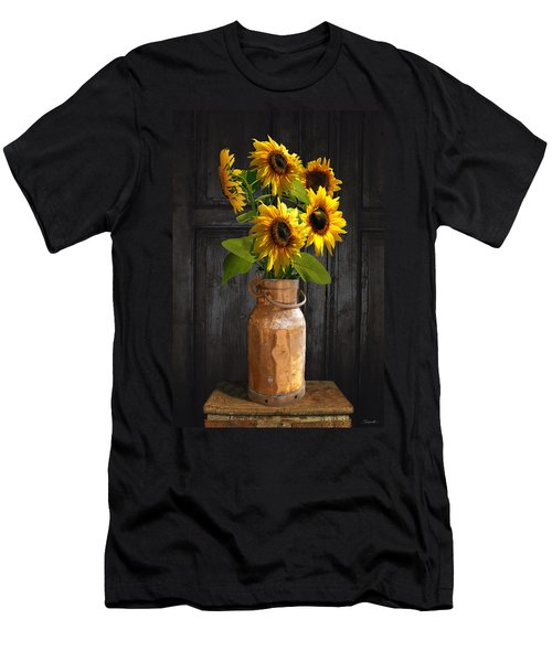 Sunflowers In Copper Milk Can Men's T-Shirt (Athletic Fit)