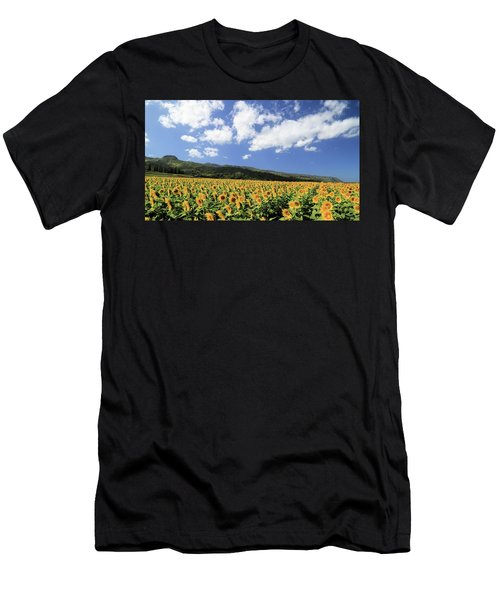 Sunflowers In Waialua Men's T-Shirt (Athletic Fit)