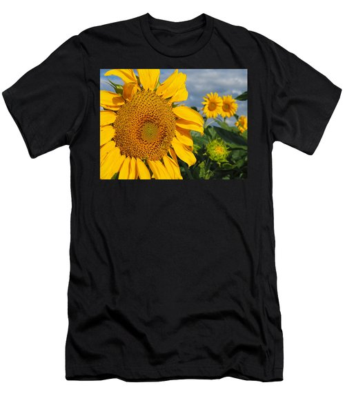 Men's T-Shirt (Athletic Fit) featuring the photograph Sunflowers by James Peterson