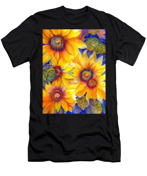 Sunflowers On Blue II Men's T-Shirt (Athletic Fit)