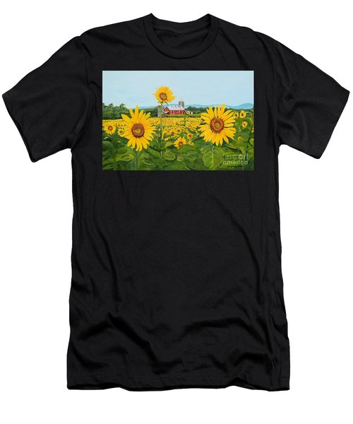 Sunflowers On Route 45 - Pennsylvania- Autumn Glow Men's T-Shirt (Athletic Fit)