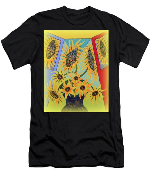 Sunflowers Rhapsody Men's T-Shirt (Athletic Fit)