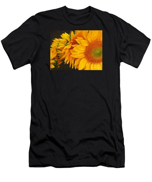 Sunflowers Train Men's T-Shirt (Slim Fit) by Jasna Gopic