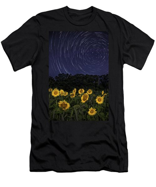 Sunflowers Under The Night Sky Men's T-Shirt (Athletic Fit)
