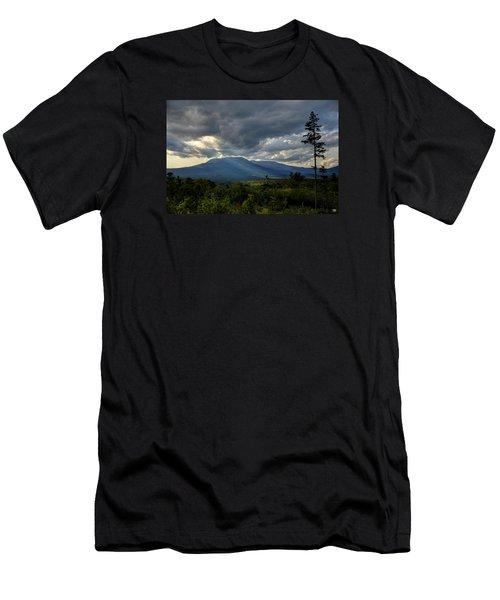 Sunlight On Katahdin Men's T-Shirt (Slim Fit)