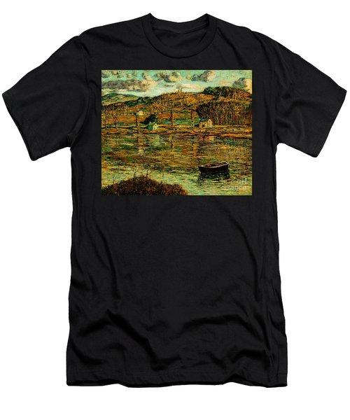 Sunlight On The Harlem River 1919 Men's T-Shirt (Athletic Fit)