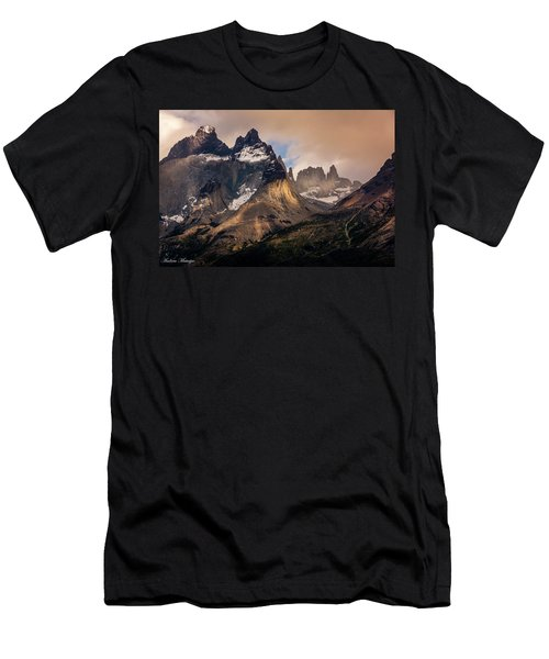 Men's T-Shirt (Slim Fit) featuring the photograph Sunlight On The Mountain by Andrew Matwijec